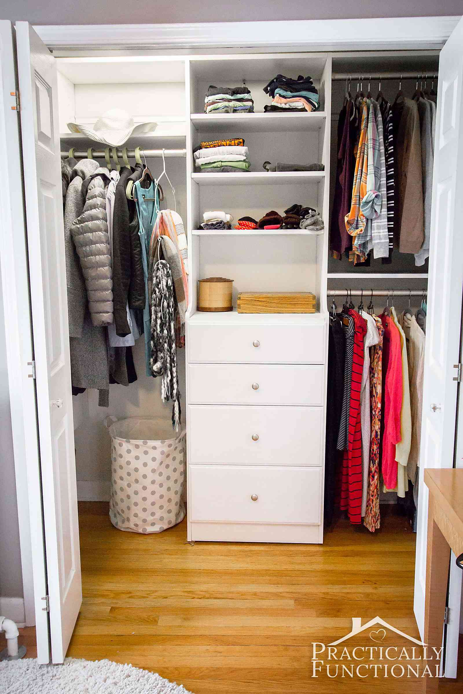 Gorgeous master closet makeover, you have to see the before photos!