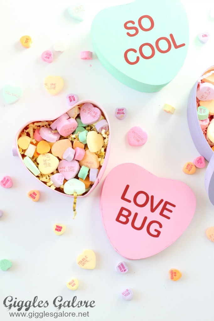 DIY Painted Conversation Heart Boxes - and 19 other fun valentines crafts!