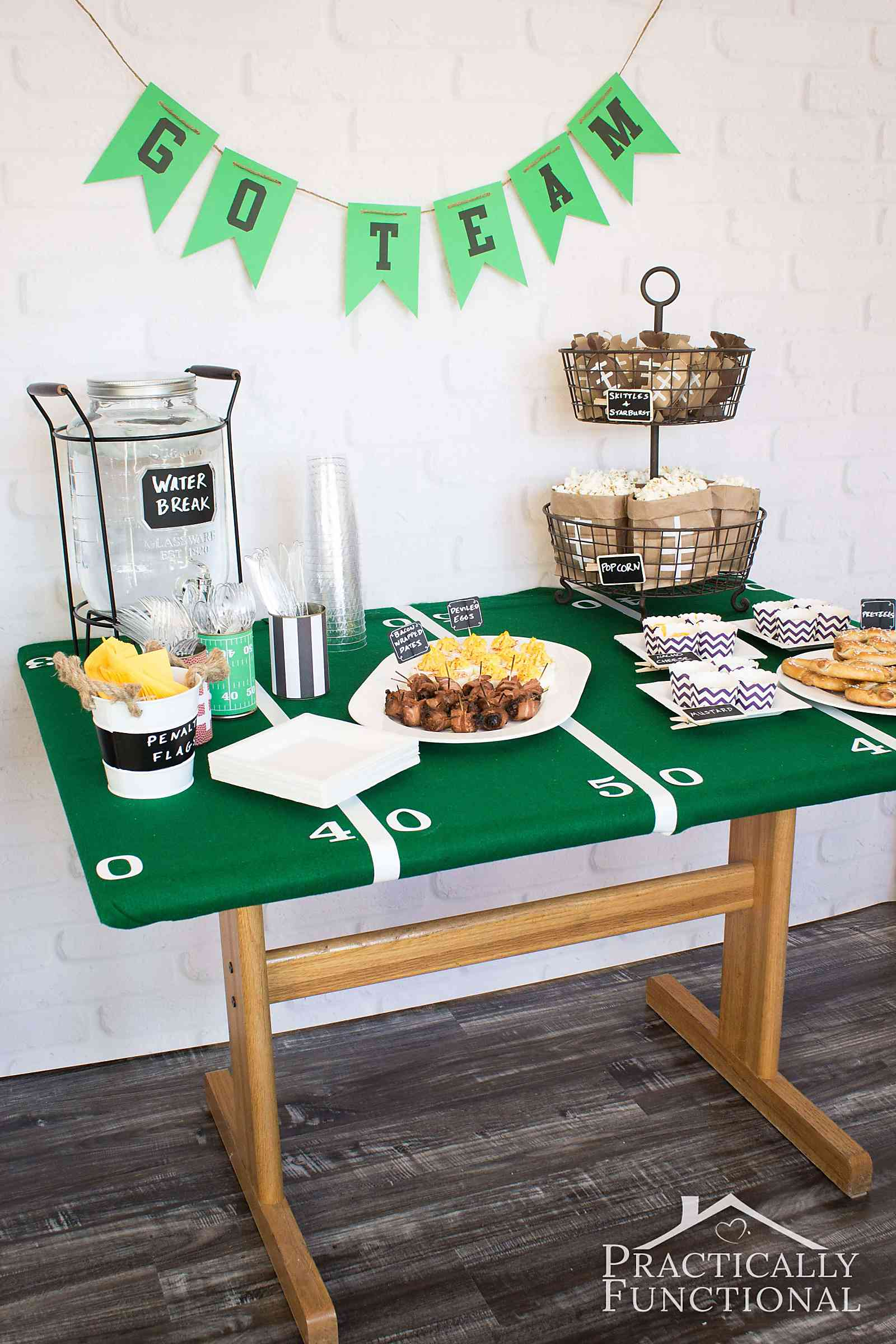 Football Party Ideas Food Decorations More Practically Functional