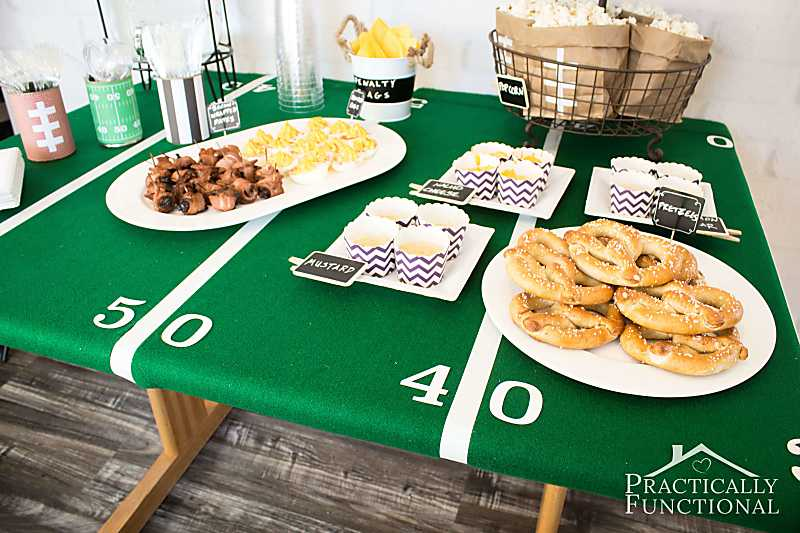 Football Themed Party Decorating Ideas Part - 36: Great Football Party Ideas! Food And Football Themed Decorations For Any  Super Bowl Party Or