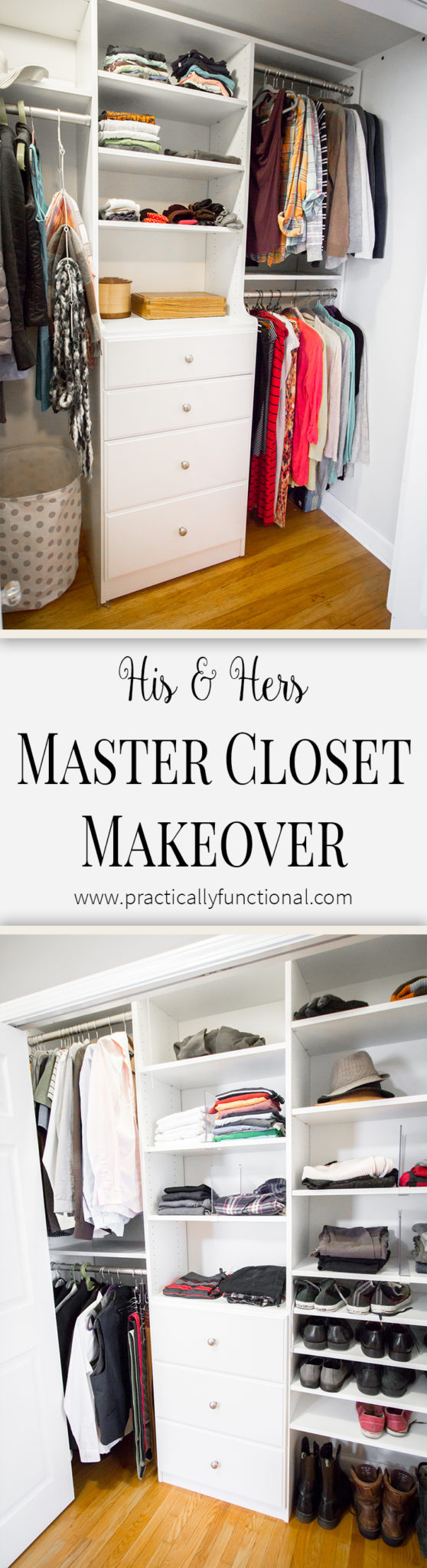 His and hers master closet makeovers! You have to see the before photos!