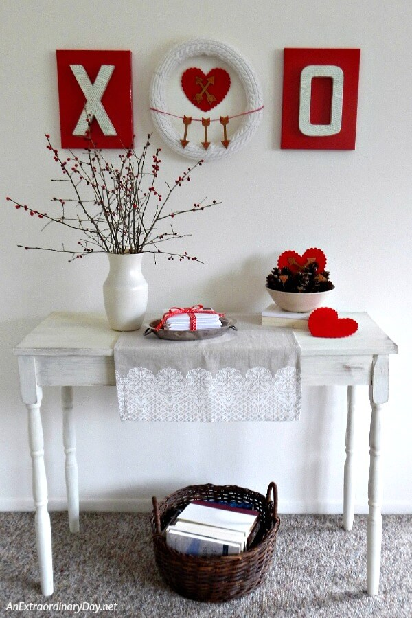DIY Valentine Wall Art - and 19 other fun valentines crafts!