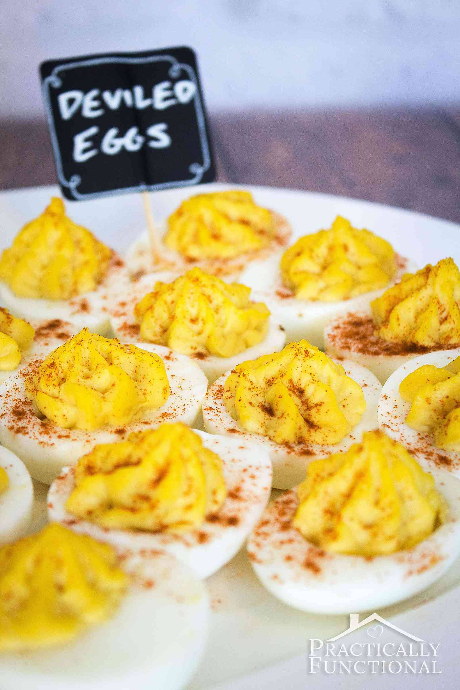 These classic deviled eggs are the perfect, easy-to-make appetizer for any occasion, from a casual football party to a fancy brunch!