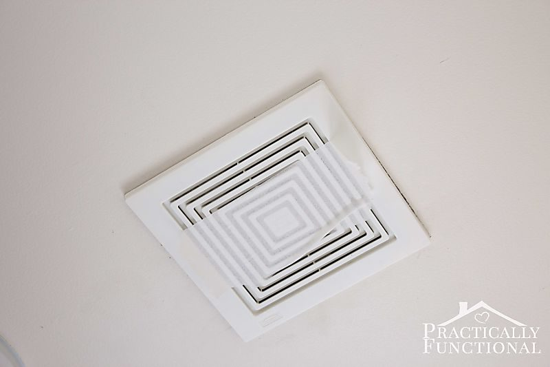 Learn how to clean a bathroom exhaust fan in under ten minutes! No more wet walls and foggy mirrors after a shower!