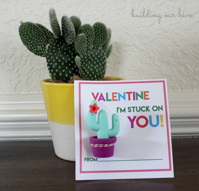 Cactus Valentine printable - and 9 other cute printable valentines!