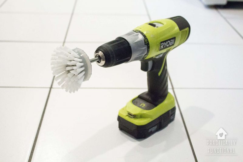 How to make a scrub brush attachment for your drill