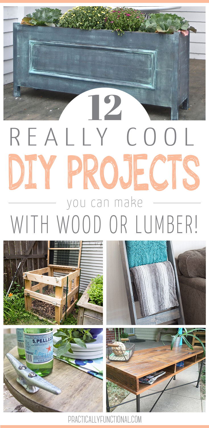 12 Easy DIY Projects Using Wood