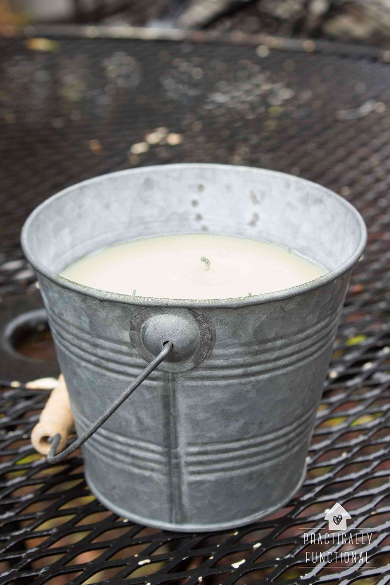 DIY outdoor citronella candle