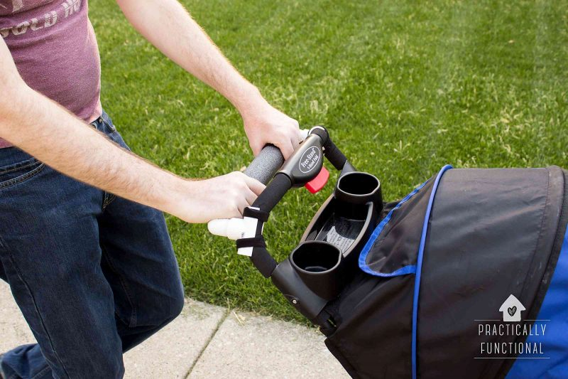 how to make a DIY stroller handle extender out of PVC pipe