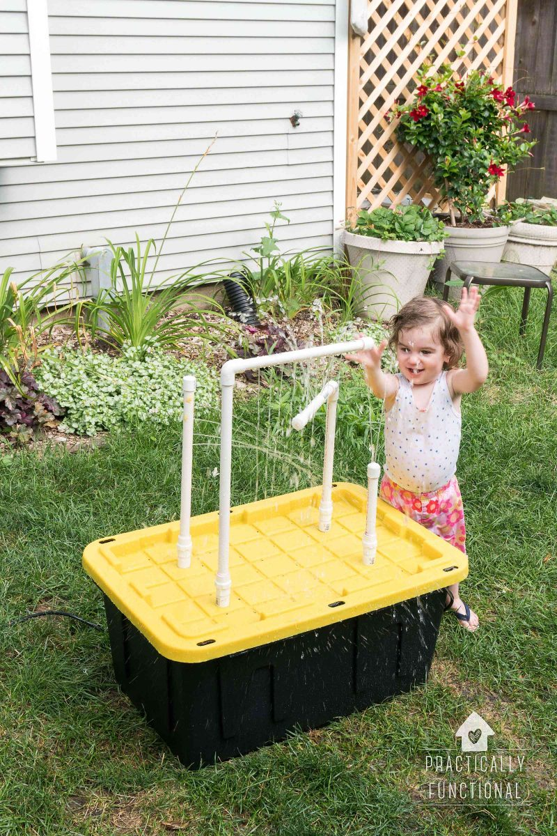 DIY Water Table With Fountains And Sprayers