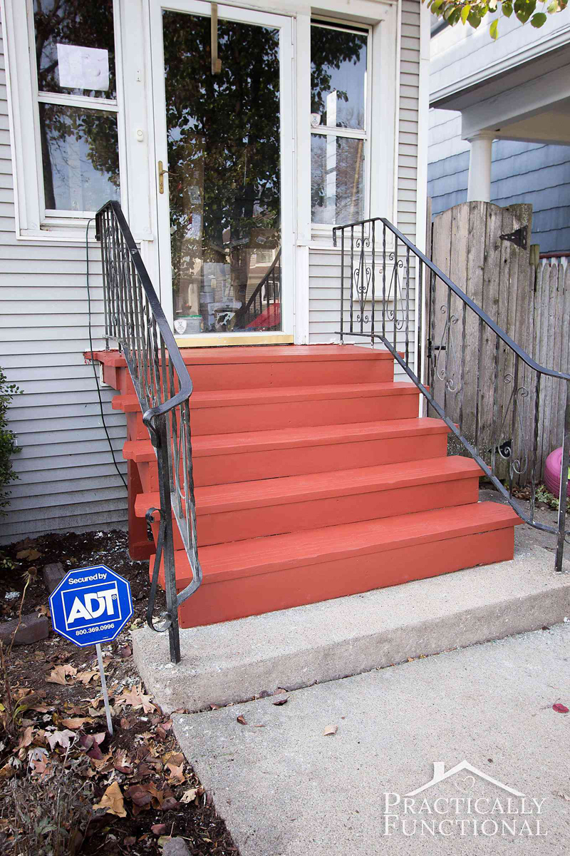 painted front steps