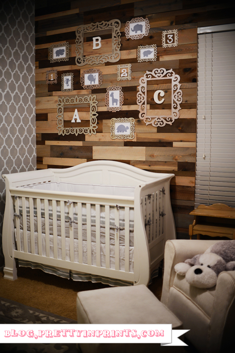 rustic woodland inspired nursery