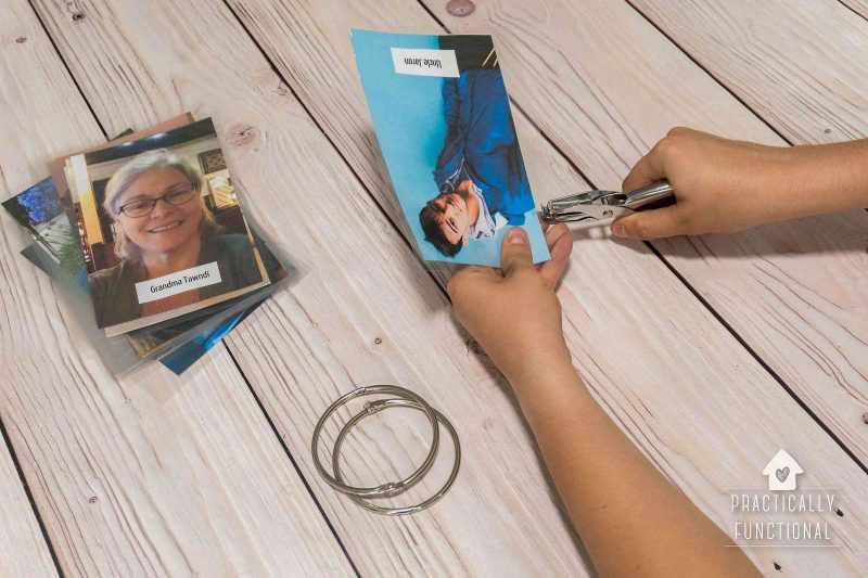 Make a simple family photo book to stay connected to family