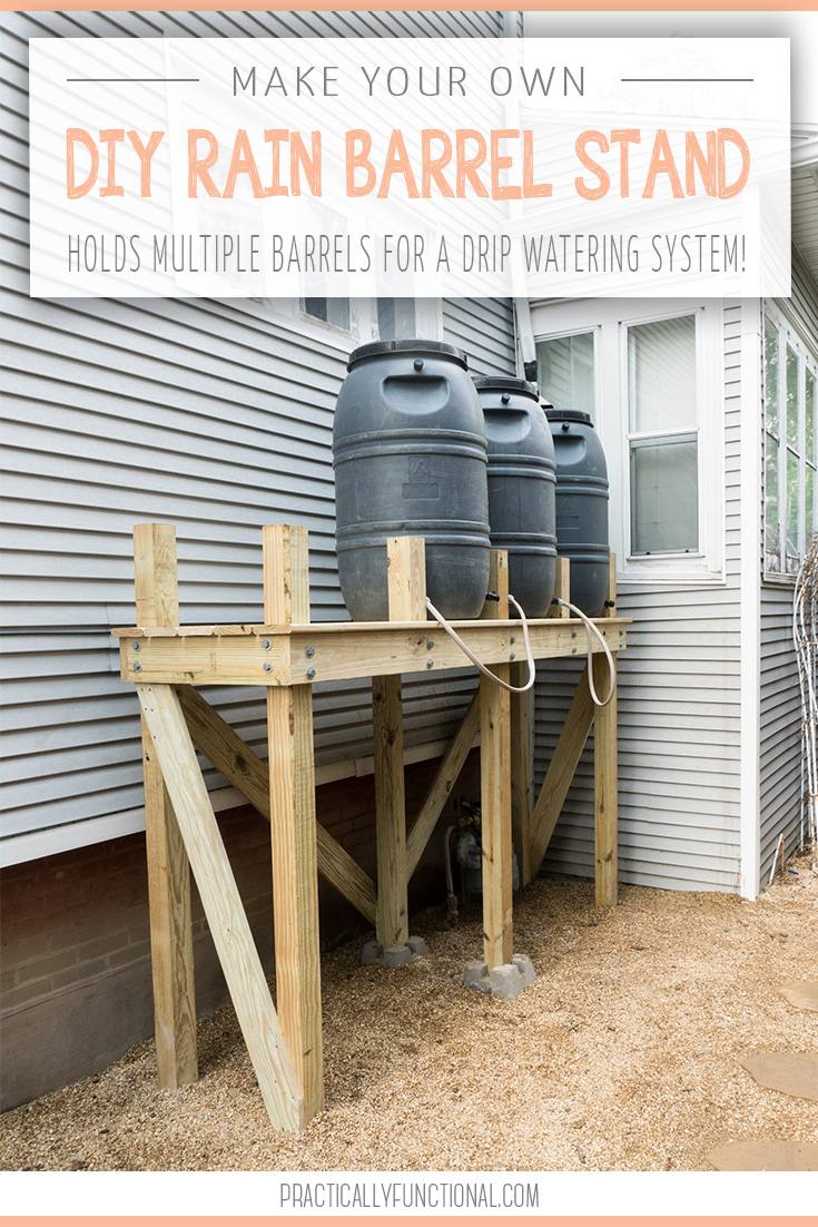 Diy stand for diy do it your self for Making rain barrel system