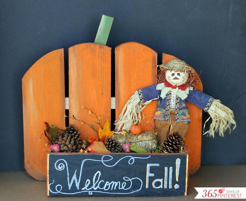 DIY pumpkin stand