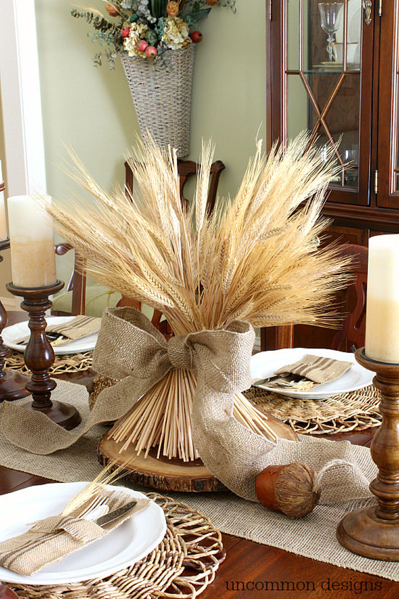 wheat bundle centerpiece