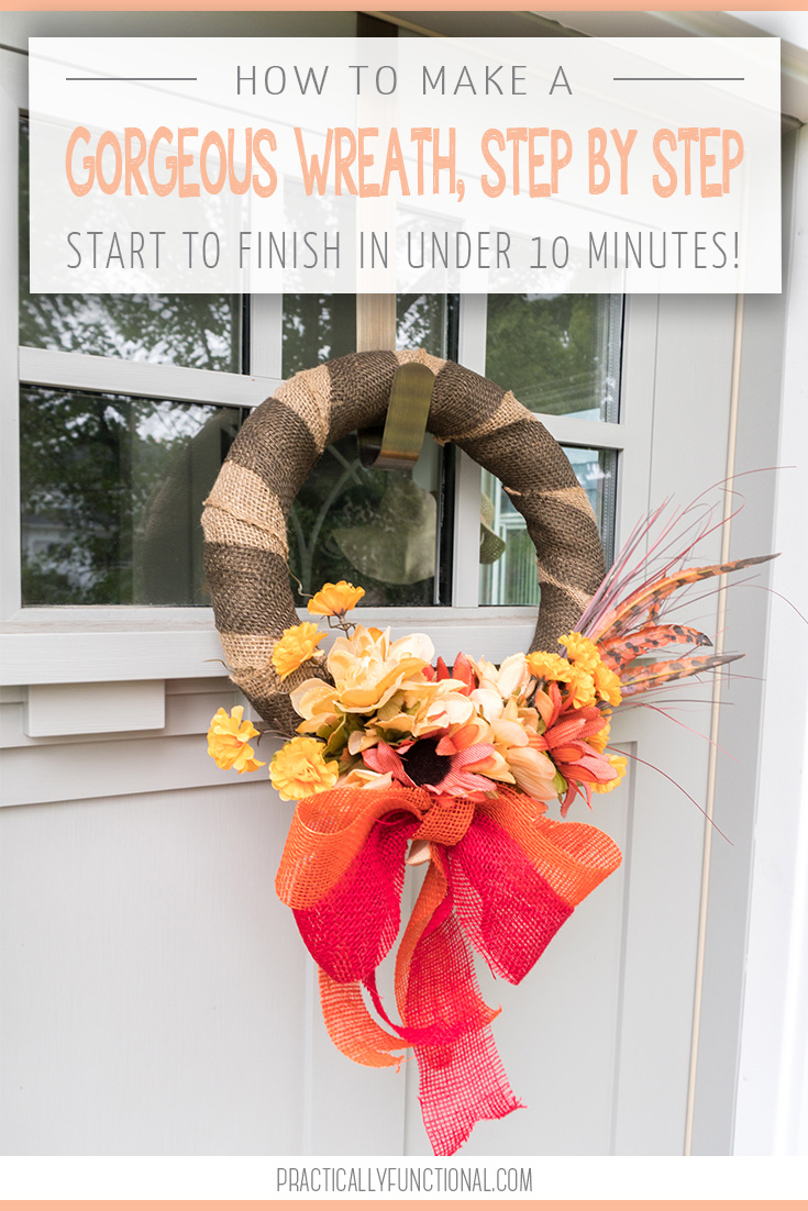 How To Make A Simple Wreath Step By Step In Under Ten Minutes Practically Functional