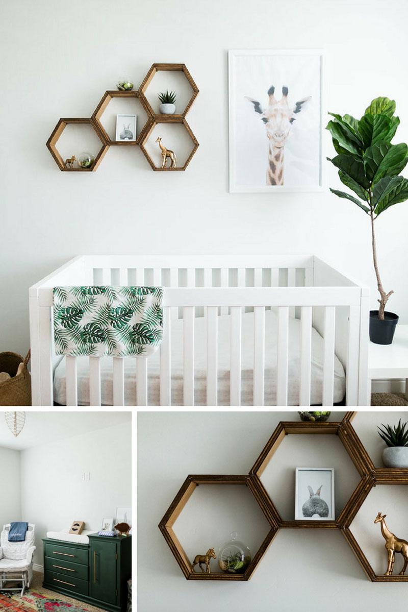 modern bohemian nursery