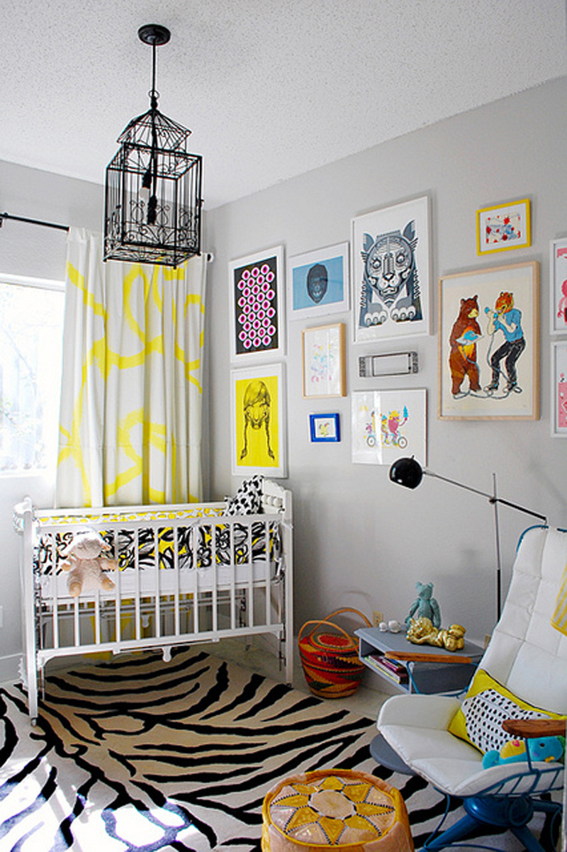 bright and cheery abstract nursery