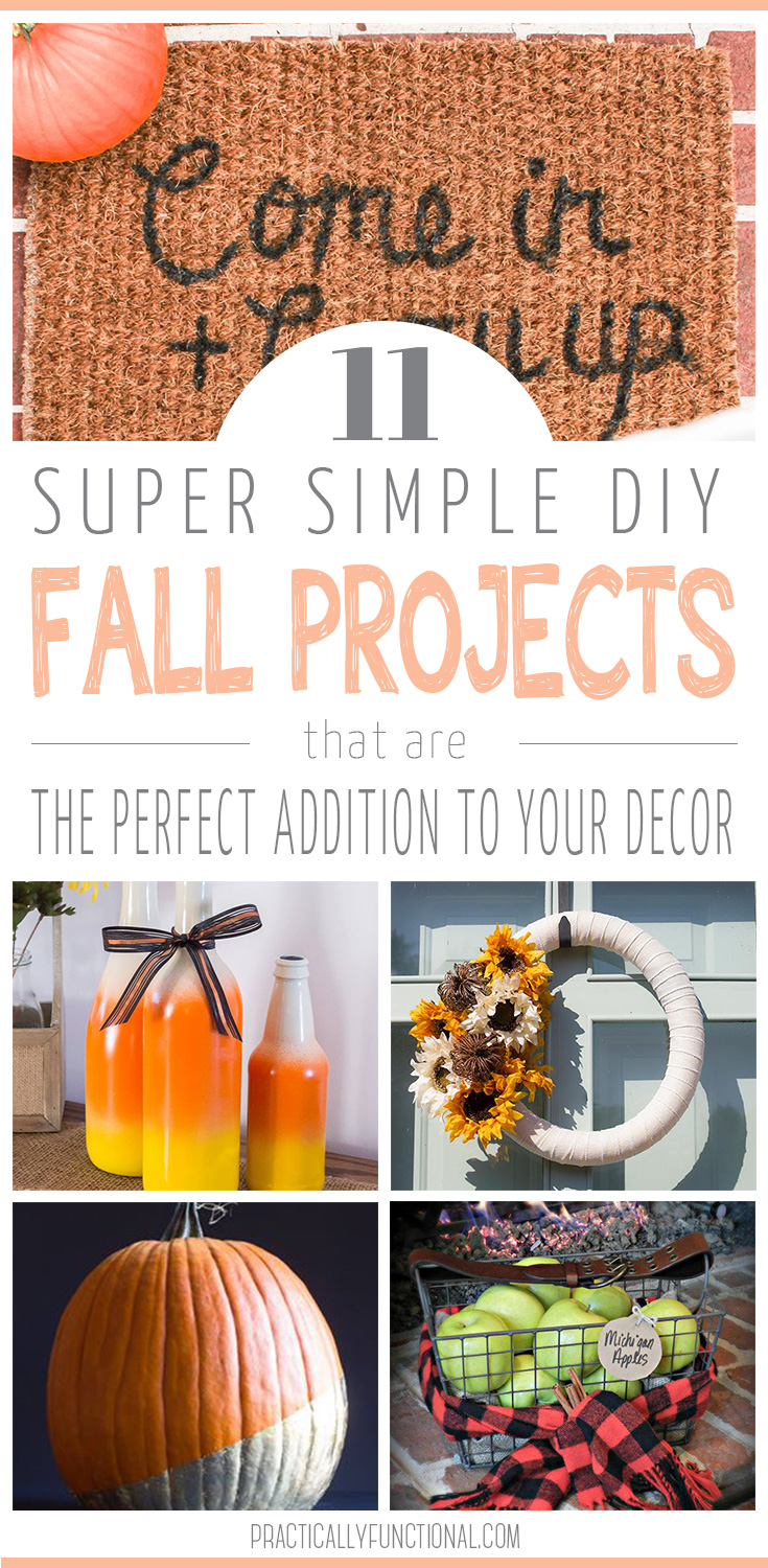 Easy Fall Kids Crafts That Anyone Can Make: 11 Easy DIY Fall Decor Projects
