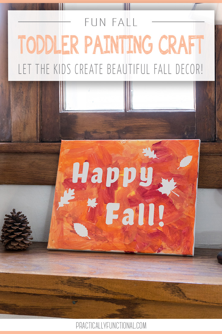 fun fall paint craft for toddlers