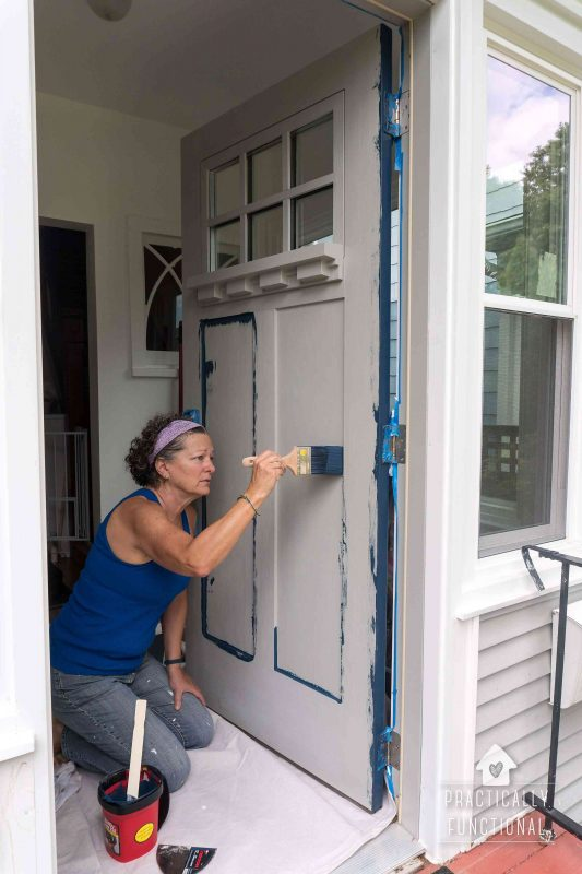 how to paint a door the easy way