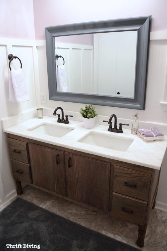 DIY bathroom vanity