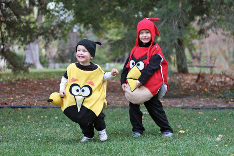 DIY Angry Birds Toddler Costume