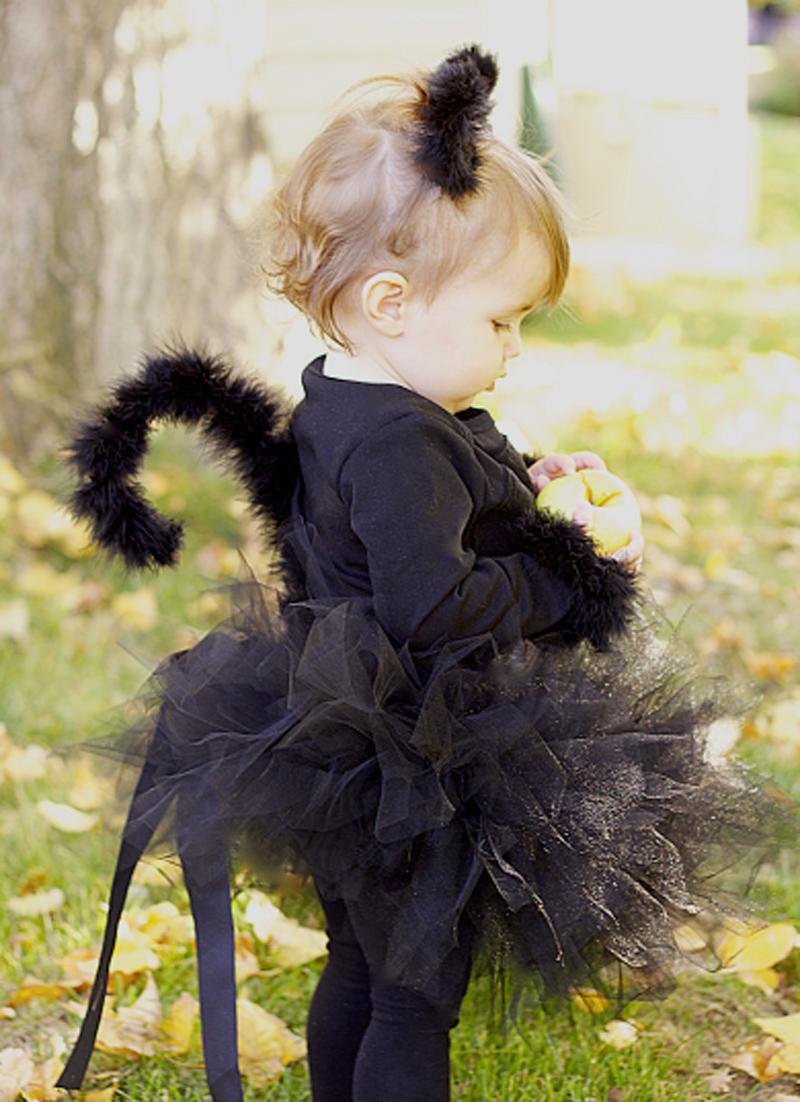 DIY Black Cat Toddler Costume