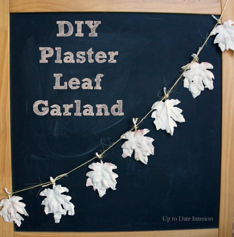 diy plaster leaf garland