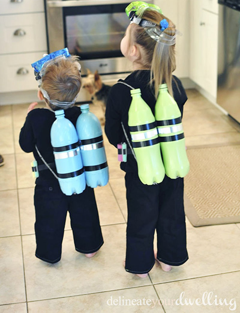22 diy toddler halloween costumes diy scuba diver toddler costume solutioingenieria Images