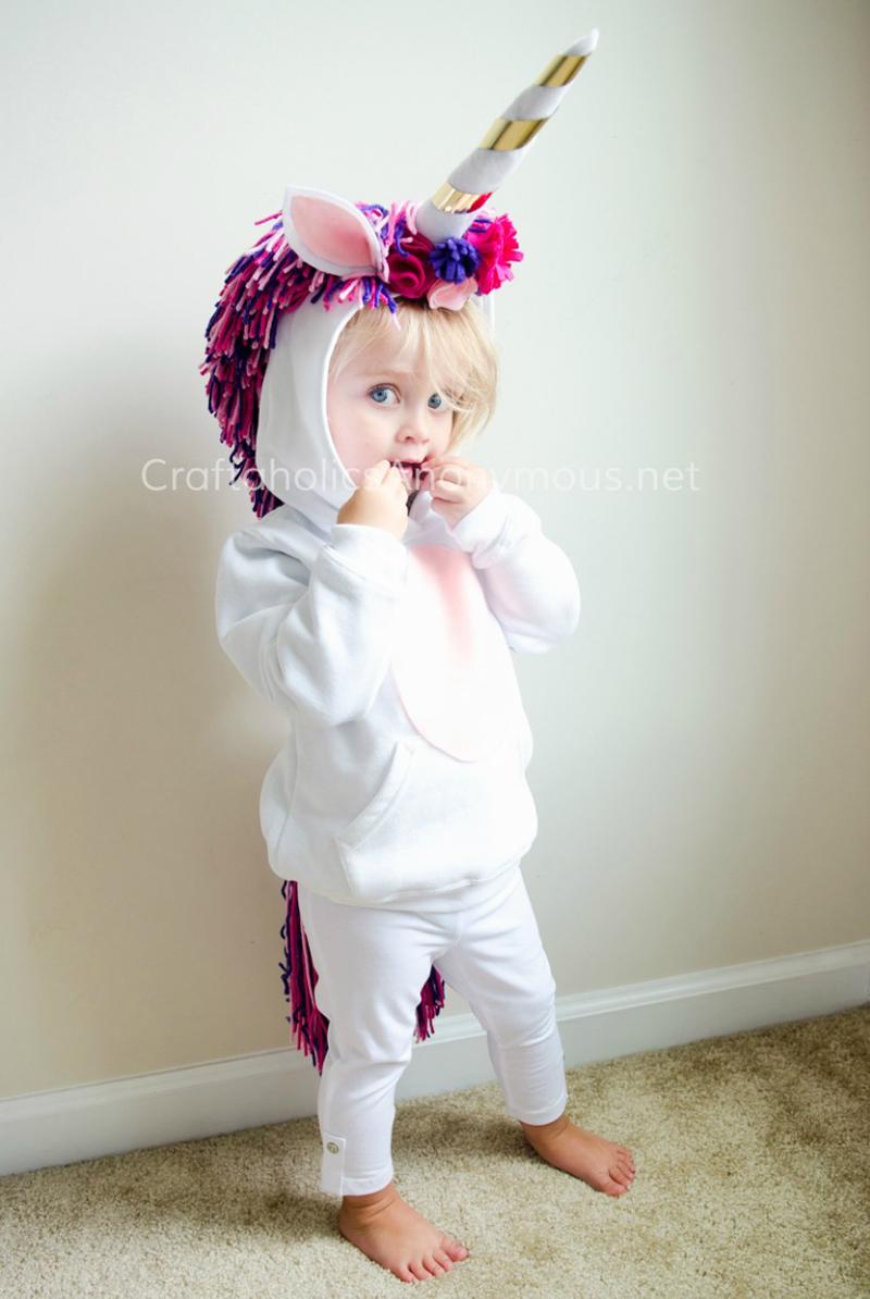 DIY Unicorn Toddler Costume