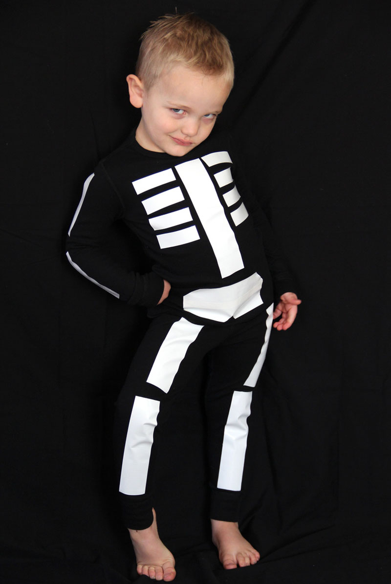 22 diy toddler halloween costumes this duct tape skeleton costume is great for little kiddos who dont want to cover their faces solutioingenieria Choice Image