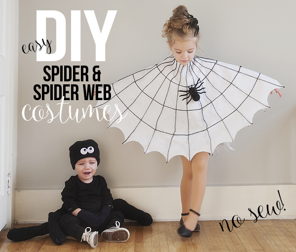 DIY Spider Web and Spider Costume