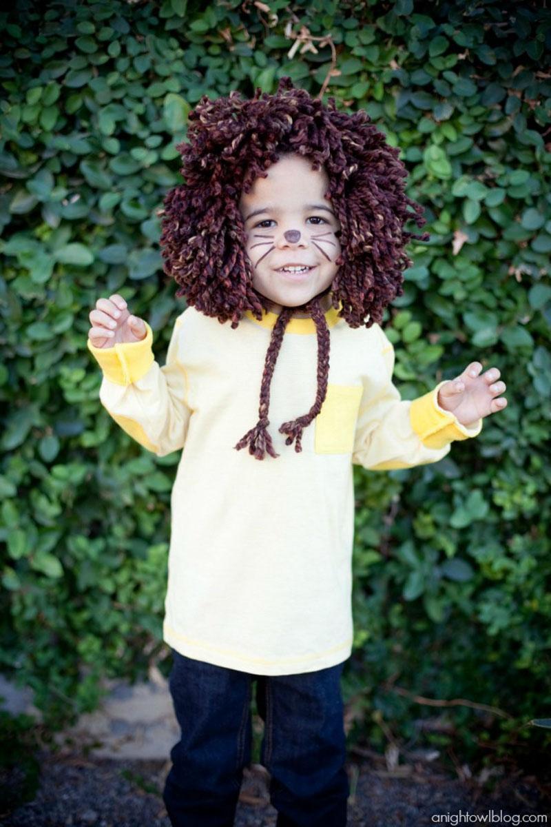 DIY Lion Toddler Costume