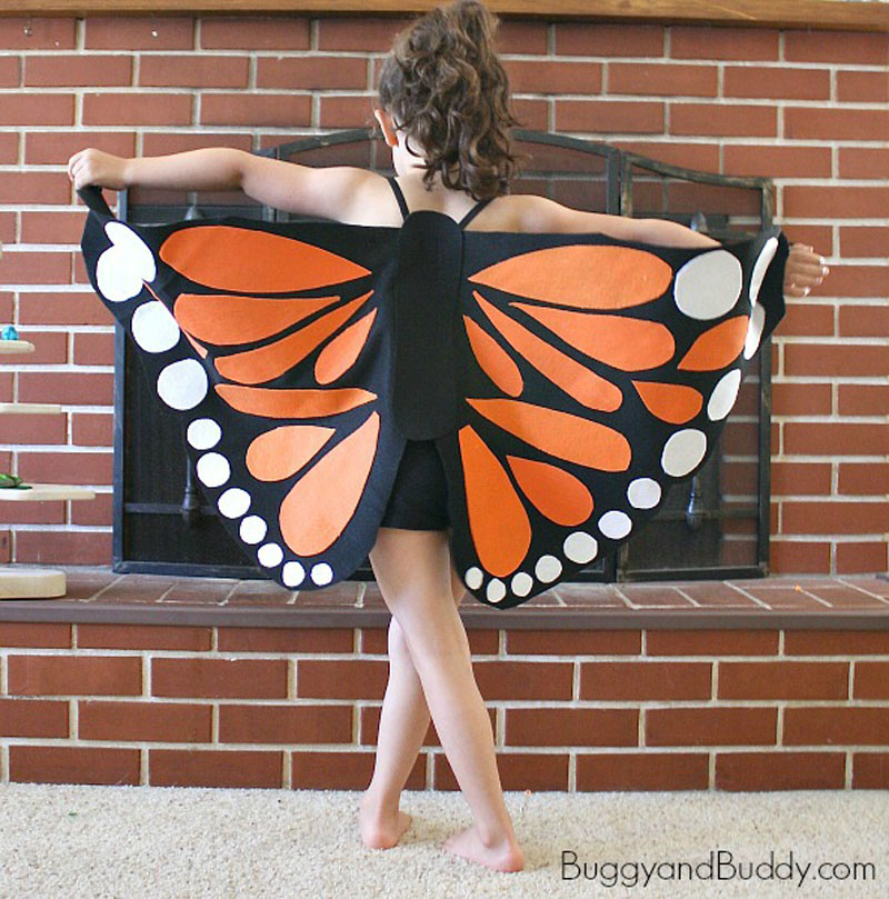DIY Toddler Monarch Wings