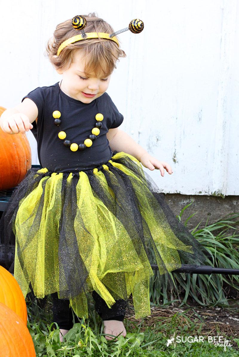 DIY Bumble Bee Toddler Costume