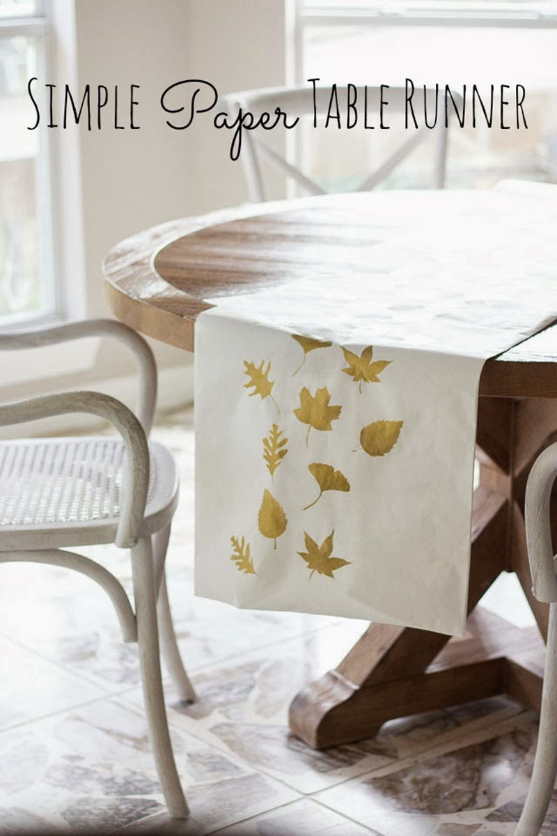DIY simple paper table runner