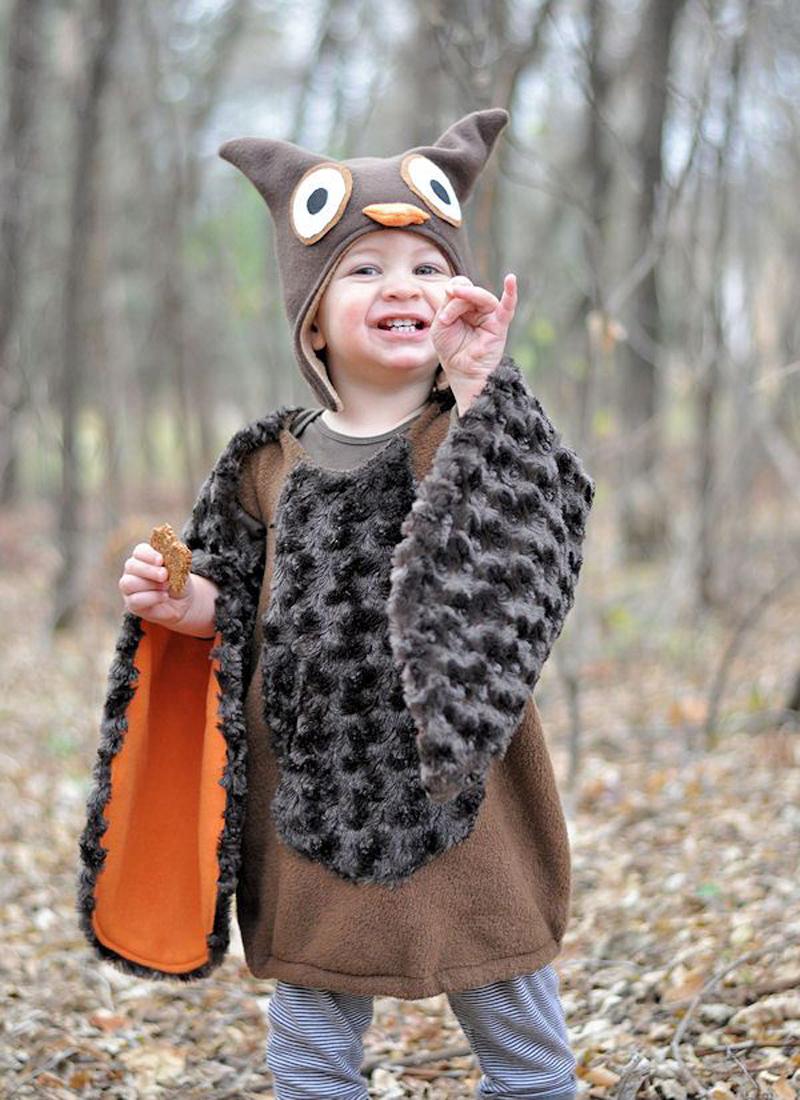DIY Owl Toddler Costume