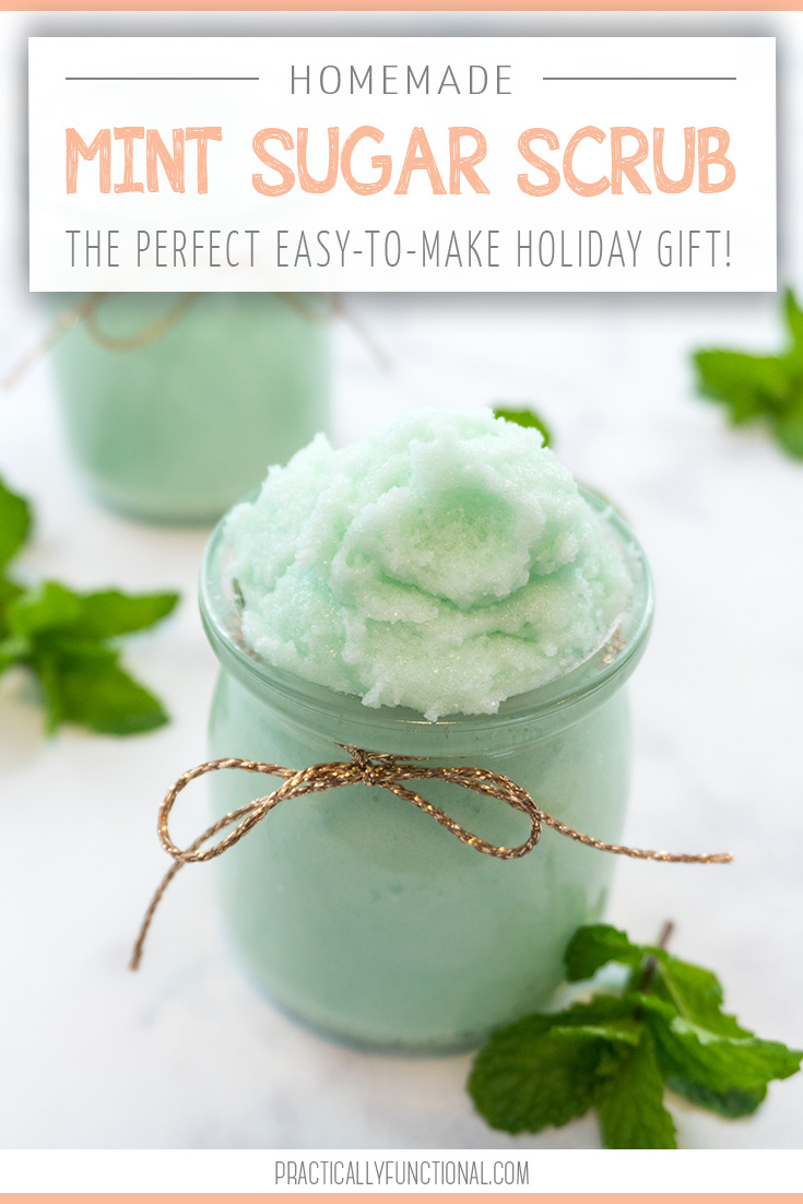 easy homemade mint sugar scrub