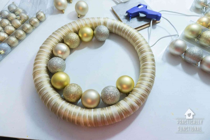 how to make an ornament wreath for your front door
